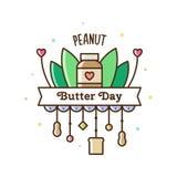 Jour de beurre d'arachide Illustration de vecteur illustration de vecteur