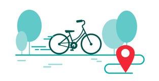 Jour de bicyclette Faites du vélo la course, marathon dans la ligne style illustration libre de droits