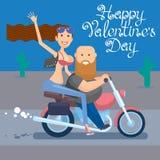 Jour de Biker's Valentine's Photographie stock