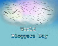 Jour de Blogger Photographie stock