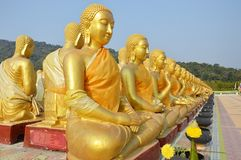 Jour de Bouddha de la pleine lune du troisième lunaire Photo libre de droits