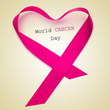 Jour de cancer du monde image stock
