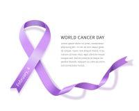 Jour de cancer du monde Photo libre de droits