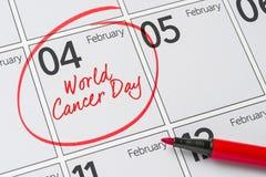 Jour de cancer du monde Photographie stock