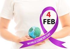 Jour de cancer du monde image libre de droits
