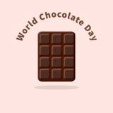 Jour de chocolat du monde Image libre de droits