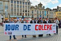 Jour De Colere eller dag av vrede i Lille Royaltyfri Foto