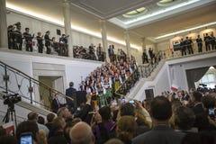 Jour de collecte de la République de la Pologne dans Parlament Photo stock