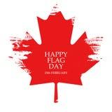 Jour de collecte national de carte de voeux de Canada Feuille d'érable sur le fond blanc illustration stock