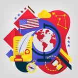 Jour de Columbus heureux Illustration de vecteur Grande carte de cadeau image stock