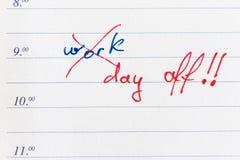 Jour de congé Image libre de droits