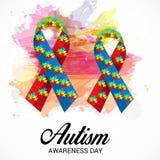 Jour de conscience d'autisme illustration de vecteur