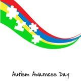 Jour de conscience d'autisme Calibre de carte ou d'affiche Illustration de vecteur images stock