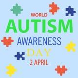 Jour 01 de conscience d'autisme du monde Photographie stock