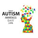 Jour 02 de conscience d'autisme du monde Images libres de droits