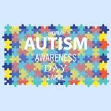 Jour 07 de conscience d'autisme du monde Photo libre de droits