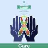 Jour 11 de conscience d'autisme du monde Photos libres de droits