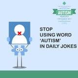 Jour 14 de conscience d'autisme du monde Image stock