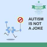 Jour 15 de conscience d'autisme du monde Photographie stock