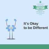 Jour 16 de conscience d'autisme du monde Photographie stock