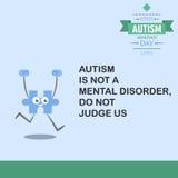 Jour 17 de conscience d'autisme du monde Photos stock