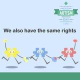 Jour 18 de conscience d'autisme du monde Photo libre de droits