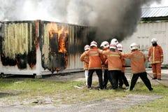 Jour de conscience et de sécurité d'incendie de la Malaisie Images stock