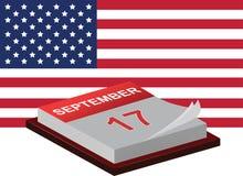 Jour de constitution et jour de citoyenneté illustration de vecteur