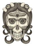 Jour de crâne d'art des morts Photographie stock libre de droits
