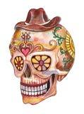Jour de crâne d'art du festival mort illustration stock
