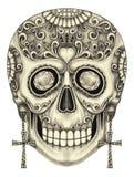 Jour de crâne d'art du papa Images stock