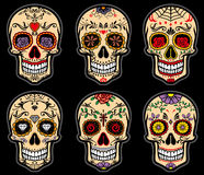 Jour de crâne de sucre de l'ensemble mort illustration de vecteur