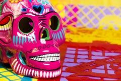 Jour de crânes de la célébration morte Image libre de droits