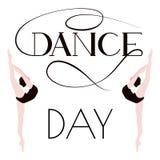 Jour de danse Affiche avec des ballerines Photographie stock libre de droits