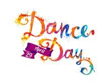Jour de danse 29 avril Peinture d'éclaboussure Photos stock