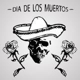 Jour de Dead Dia de los Muertos Image stock