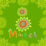 Jour 8 de jour des femmes s de mars Photo stock