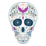 Jour de Dia de Muertos Tattoo Skull Ornate des morts Images stock