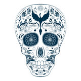Jour de Dia de Muertos Tattoo Skull Ornate des morts Photo stock