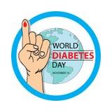Jour de diabète du monde 14 novembre illustration stock