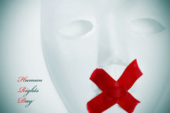 Jour de droits de l'homme Photo libre de droits