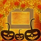 Jour de fête de Halloween de potiron sur le fond de papier abstrait Images libres de droits