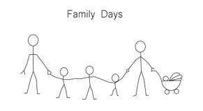 Jour de famille Photographie stock