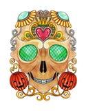 Jour de fantaisie d'Art Sugar Skull des morts Photo libre de droits