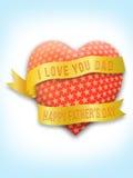 Jour de Father's avec la salutation d'amour Image libre de droits