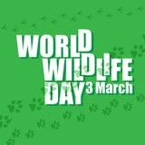 Jour de faune du monde Photos stock