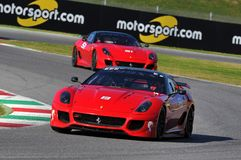 Jour de Ferrari Ferrari 2015 599 XX au circuit de Mugello Photos stock