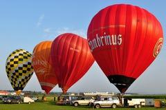 Jour de festival de ballon, Kunovice, République Tchèque Photos stock