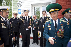 Jour de gardes frontière à Tcherkassy Photo stock