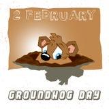 Jour de Groundhog Images stock